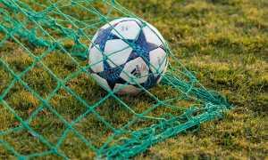 Pallone calcio rete